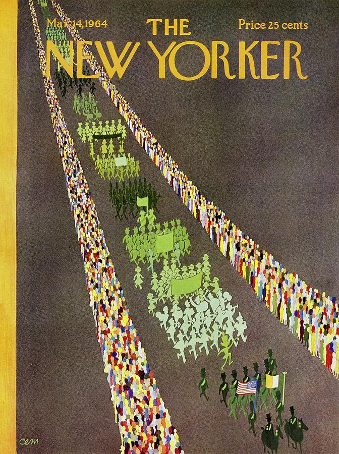 New Yorker March 14th 1964 Painting by Charles E Martin