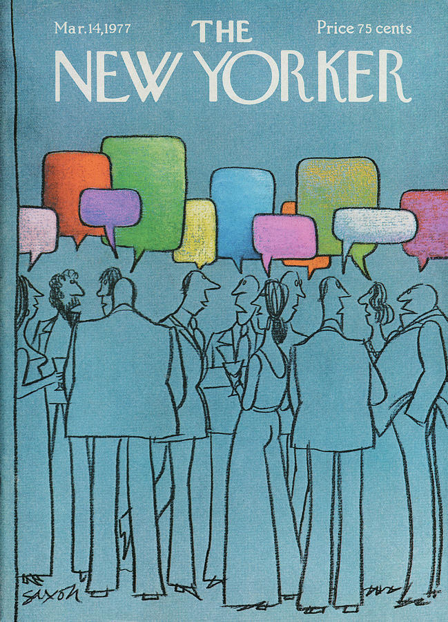 New Yorker March 14th, 1977 Painting by Charles Saxon