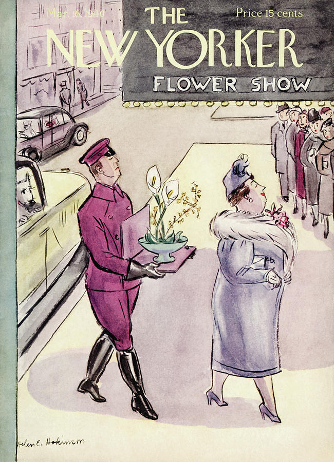 New Yorker March 16, 1940 Painting by Helen E Hokinson