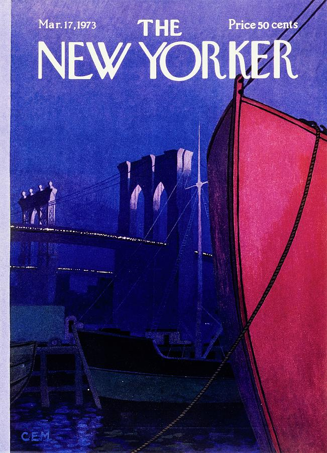 New Yorker March 17th 1973 Painting by Charles Martin