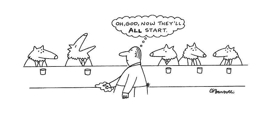 New Yorker March 17th, 1997 Drawing by Charles Barsotti