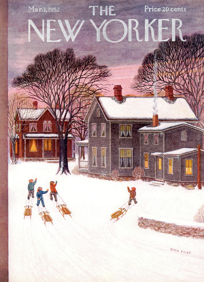 New Yorker March 1st, 1952 Painting by Edna Eicke