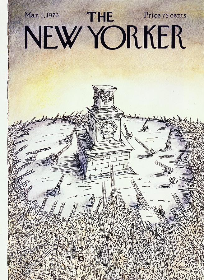New Yorker March 1st 1976 Painting by Niculae Asciu