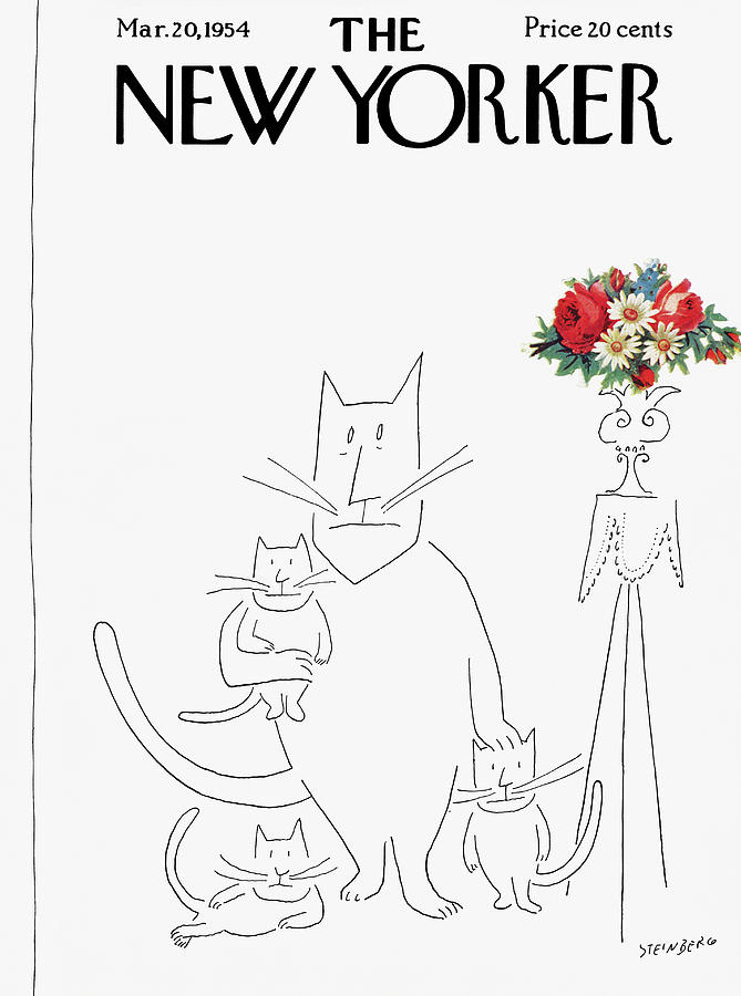 New Yorker March 20th, 1954 Painting by Saul Steinberg