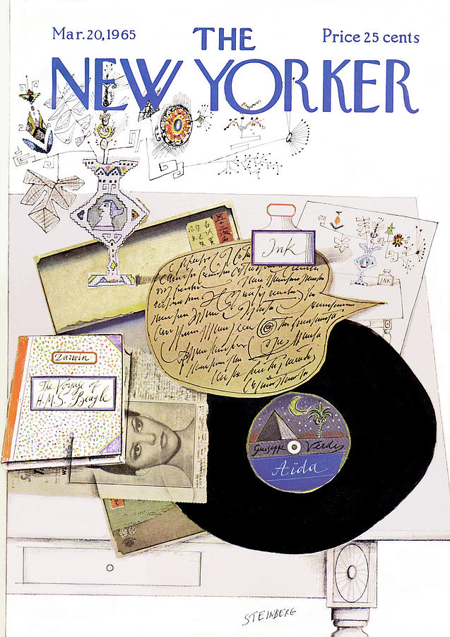 New Yorker March 20th, 1965 Painting by Saul Steinberg