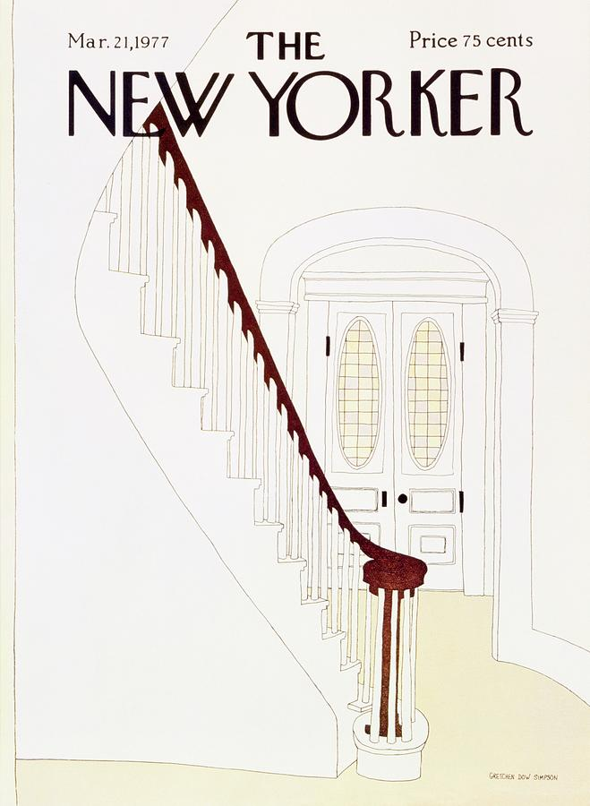 New Yorker March 21st 1977 Painting by Gretchen Dow Simpson