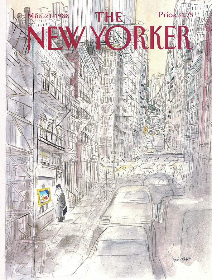 New Yorker March 21st, 1988 Painting by Jean-Jacques Sempe