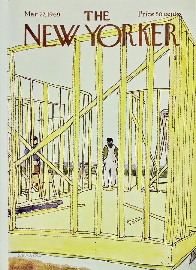 New Yorker March 22nd 1969 Painting by James Stevenson