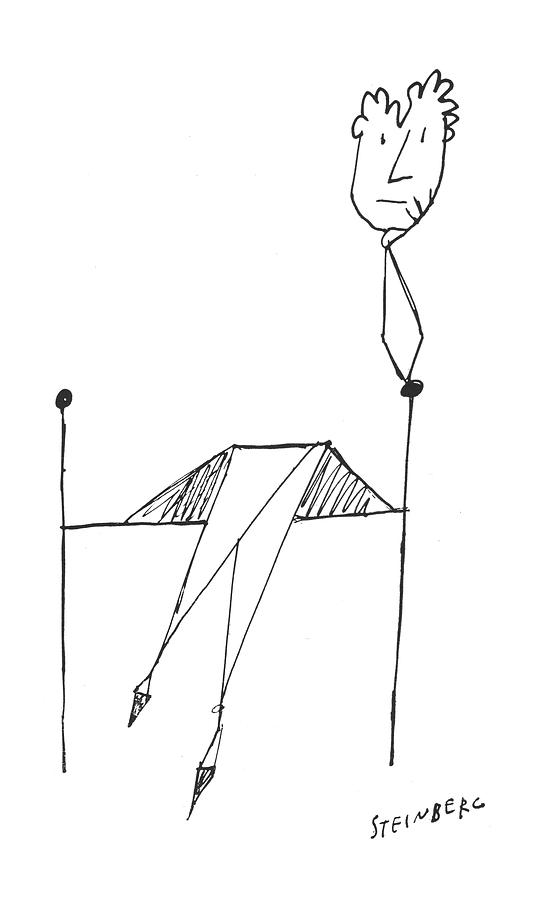 New Yorker March 23rd, 1957 Drawing by Saul Steinberg