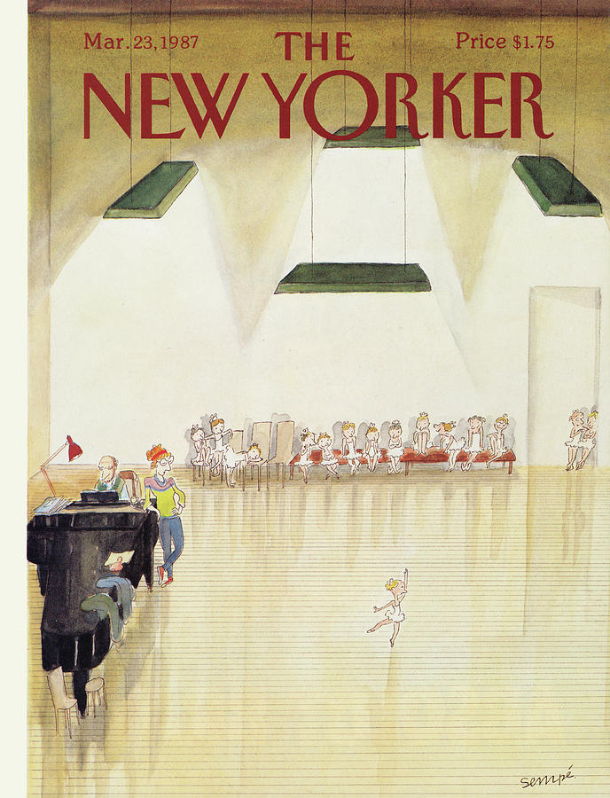 New Yorker March 23rd, 1987 Painting by Jean-Jacques Sempe