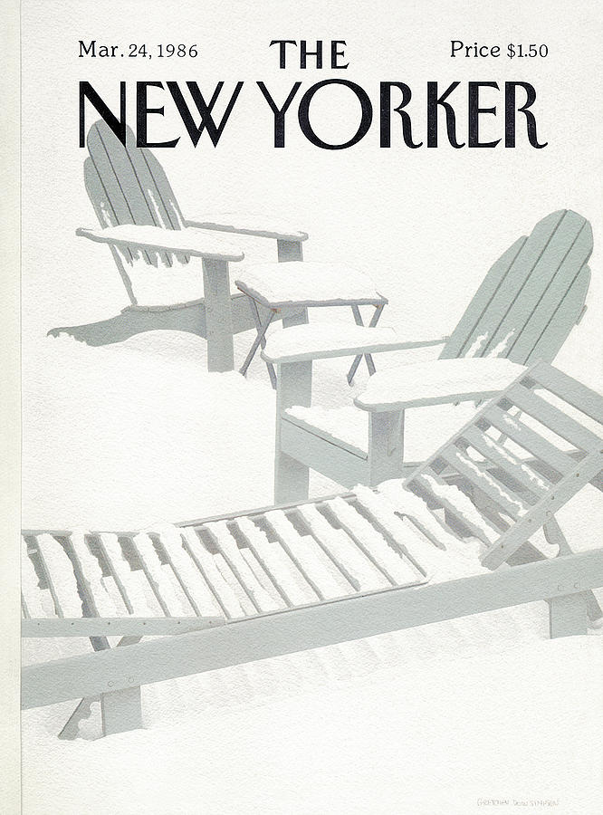 Weather Painting - New Yorker March 24th, 1986 by Gretchen Dow Simpson