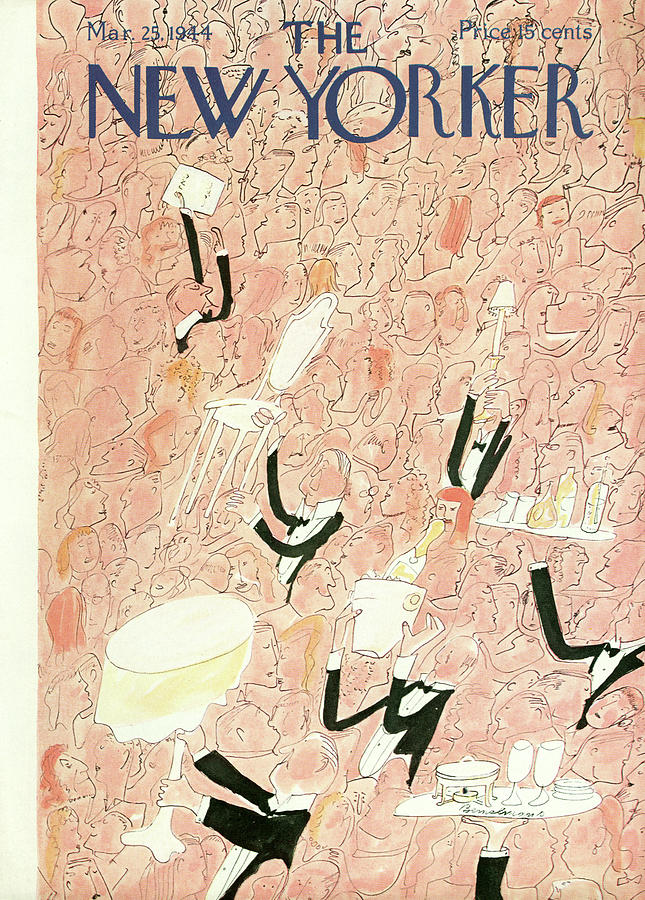 New Yorker March 25, 1944 Painting by Ludwig Bemelmans
