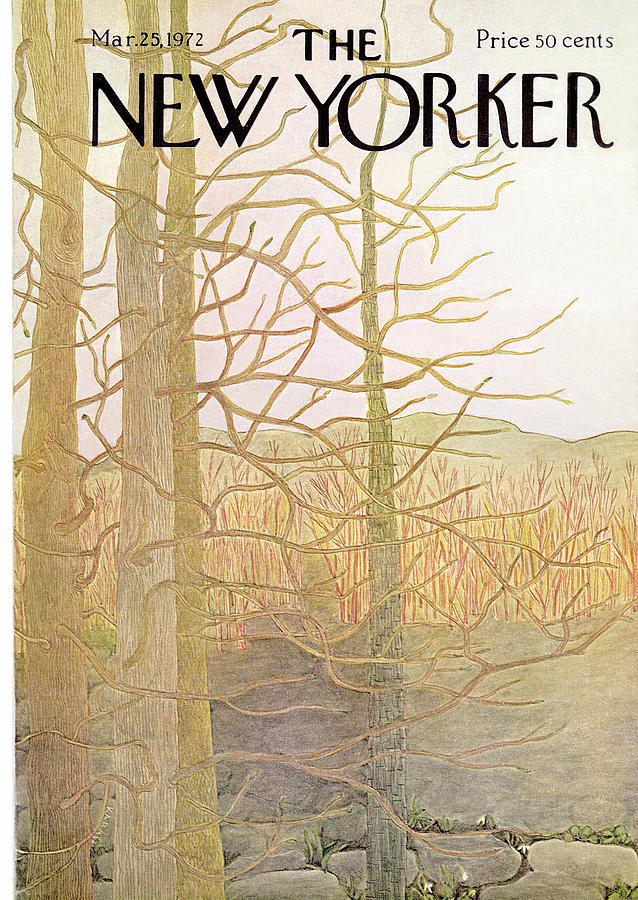 New Yorker March 25th, 1972 Painting by Ilonka Karasz