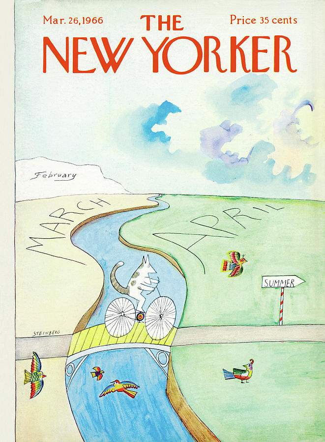 New Yorker March 26th, 1966 Painting by Saul Steinberg