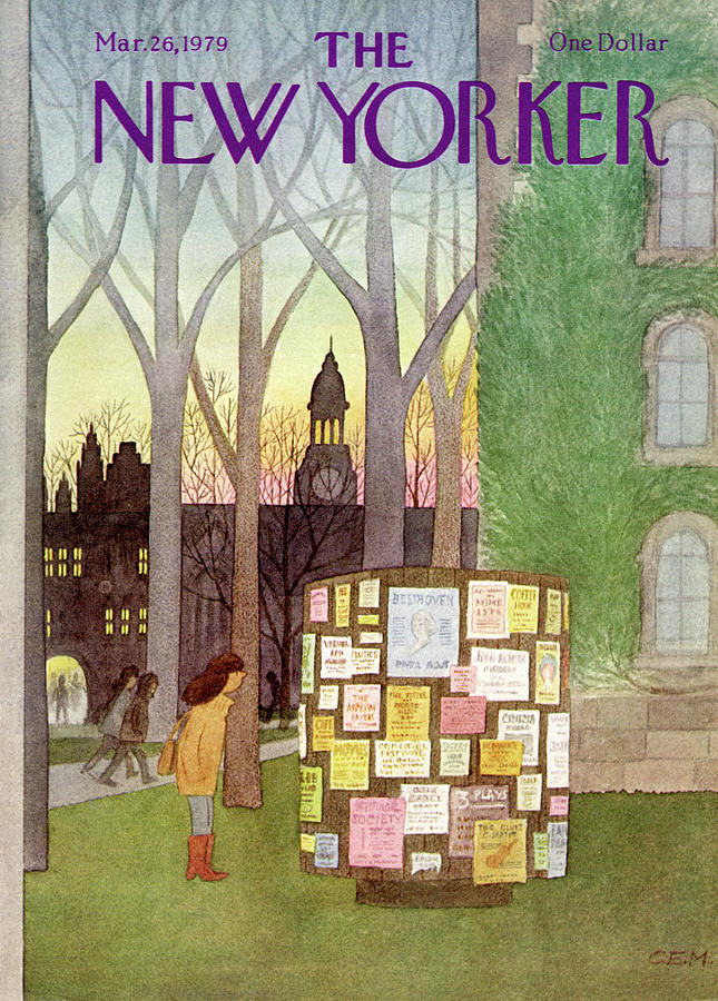 New Yorker March 26th, 1979 Painting by Charles E Martin