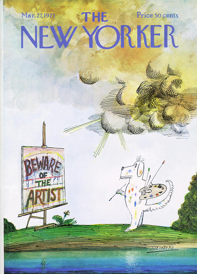 New Yorker March 27th, 1971 Painting by Saul Steinberg