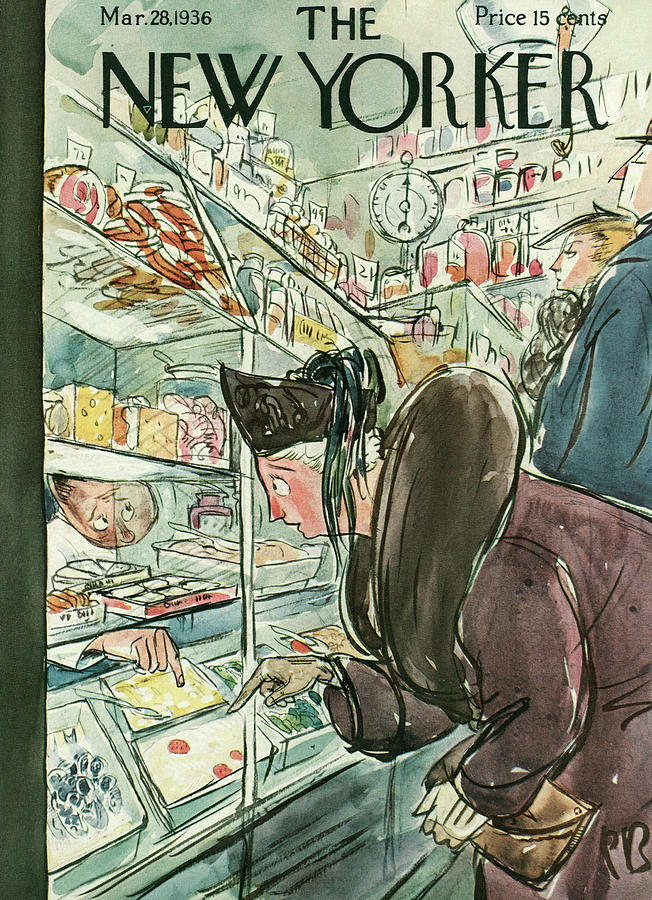 New Yorker March 28th, 1936 Painting by Perry Barlow
