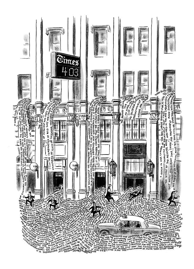 New Yorker March 29th, 1969 Drawing by Robert J. Day