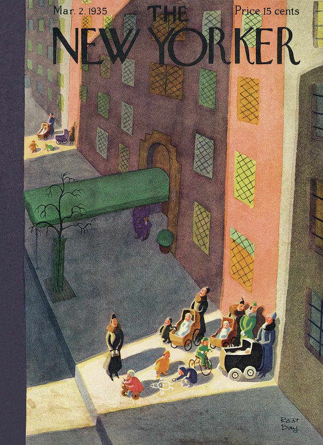 New Yorker March 2, 1935 Painting by Robert J Day