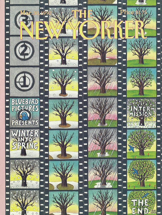 New Yorker March 30th, 1992 Painting by Bob Knox