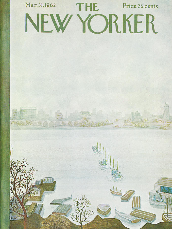 New Yorker March 31st, 1962 Painting by Ilonka Karasz