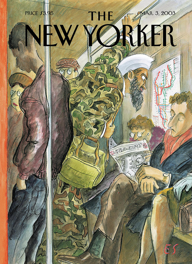 New Yorker March 3rd, 2003 Painting by Edward Sorel