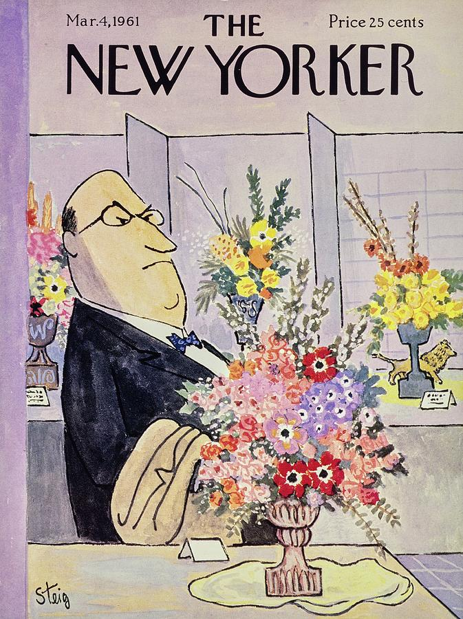 New Yorker March 4th 1961 Painting by William Steig