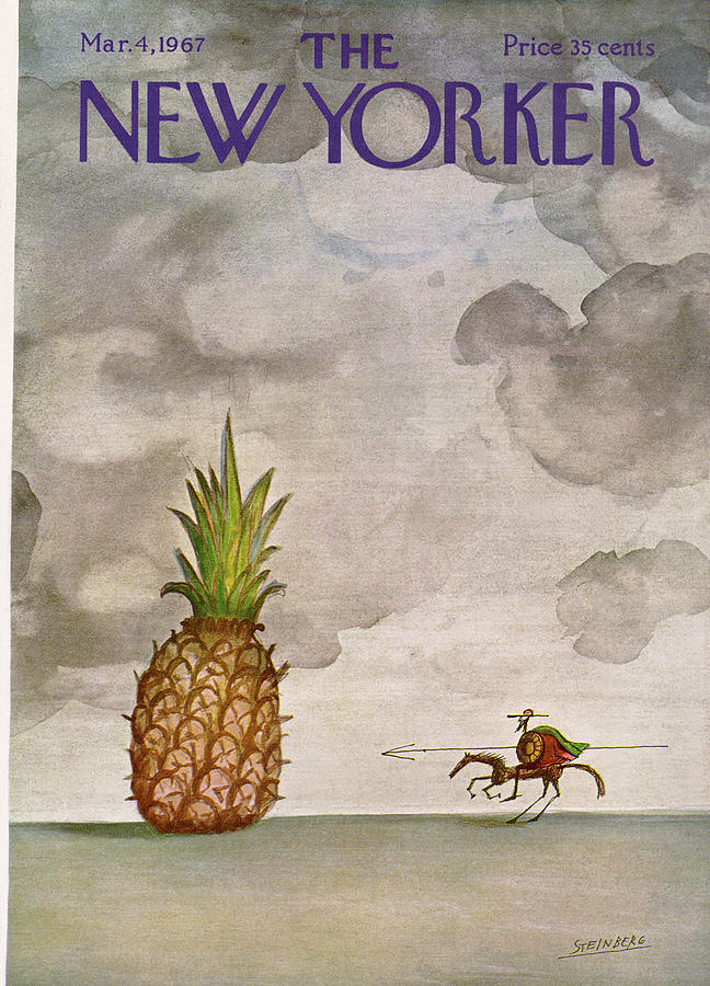 New Yorker March 4th, 1967 Painting by Saul Steinberg
