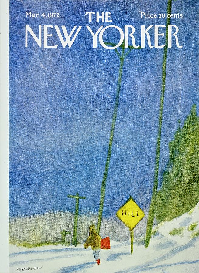 New Yorker March 4th 1972 Painting by James Stevenson