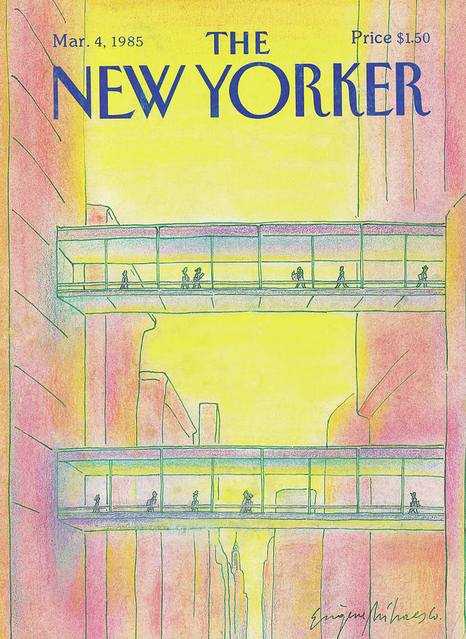 New Yorker March 4th, 1985 Painting by Eugene Mihaesco