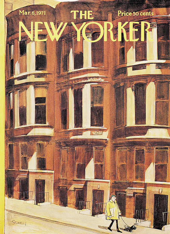 New Yorker March 6th, 1971 Painting by Charles Saxon