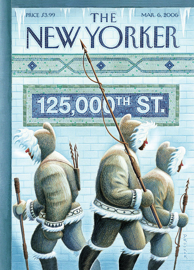 New Yorker March 6th, 2006 Painting by Eric Drooker