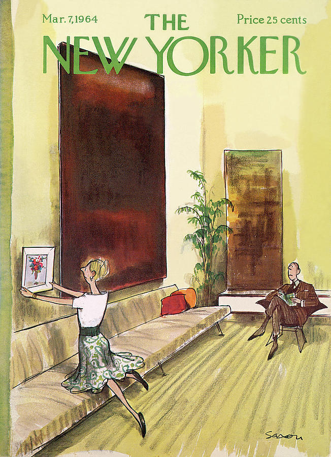 New Yorker March 7th, 1964 Painting by Charles Saxon