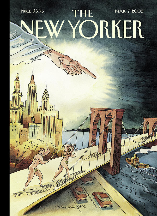 New Yorker March 7, 2005 Painting by Marcellus Hall