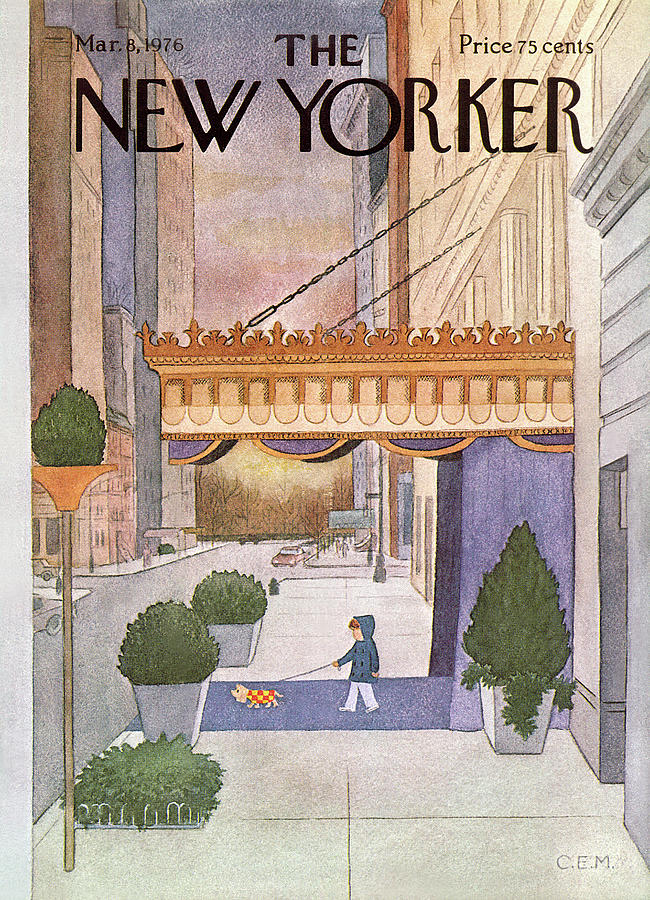New Yorker March 8th, 1976 Painting by Charles E Martin