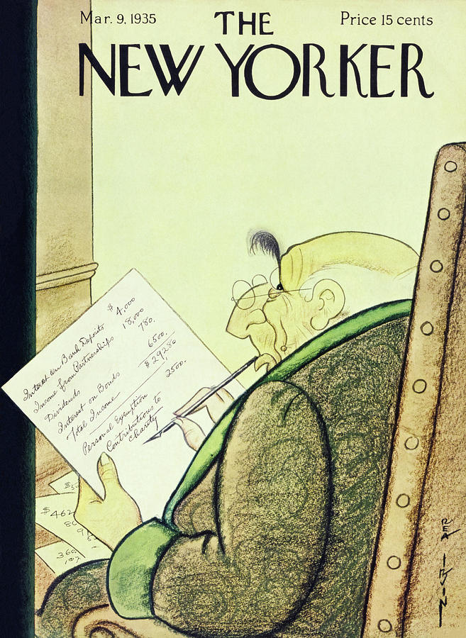 New Yorker March 9 1935 Painting by Rea Irvin