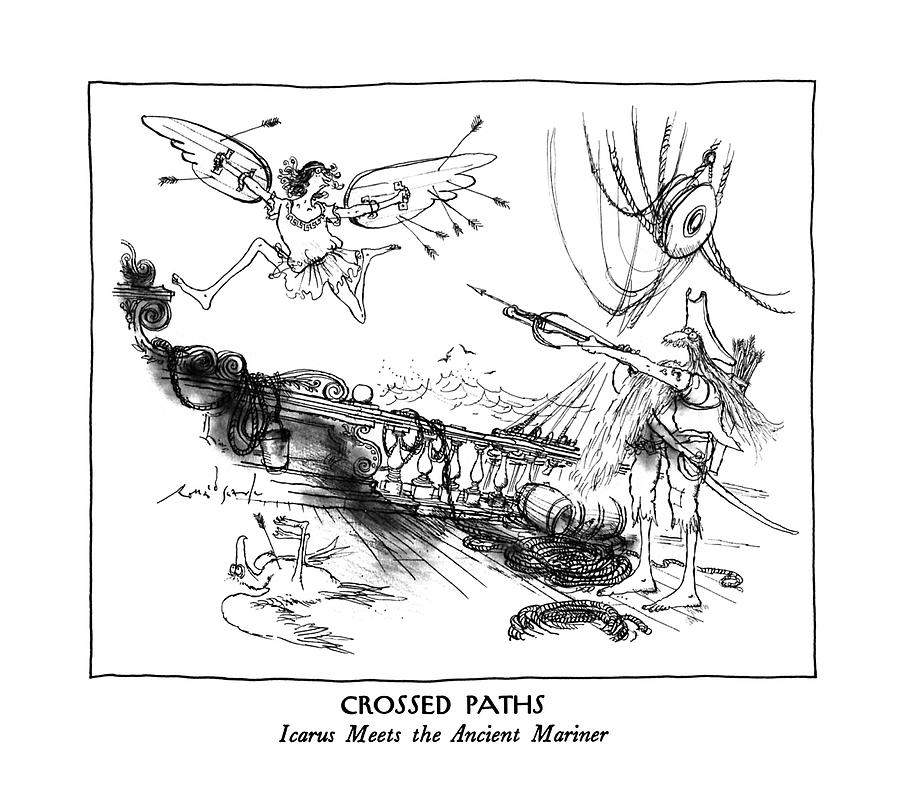 New Yorker March 9th, 1992 Drawing by Ronald Searle