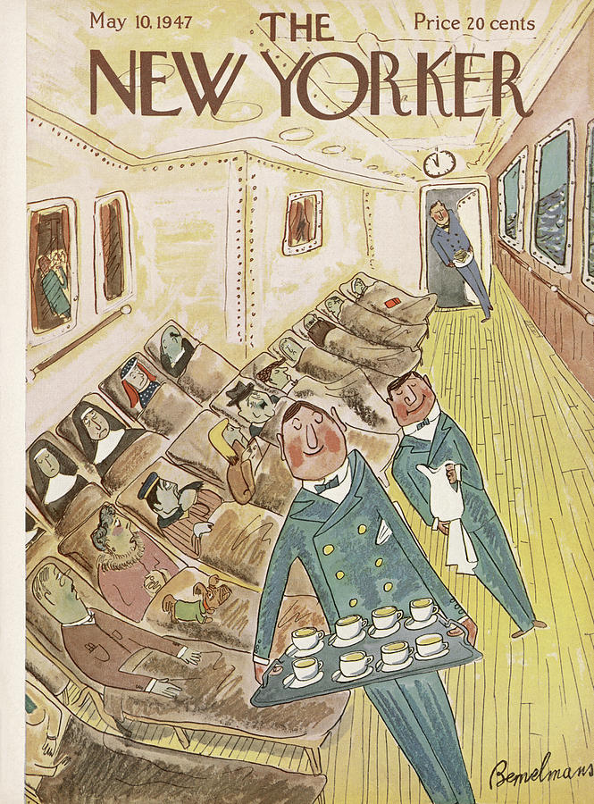New Yorker May 10, 1947 Painting by Ludwig Bemelmans