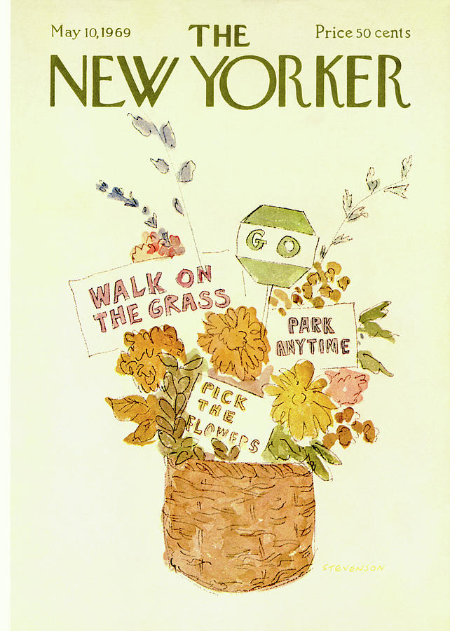 New Yorker May 10th, 1969 Painting by James Stevenson