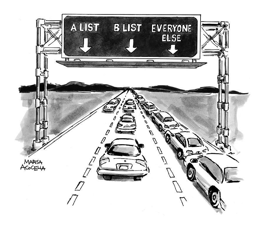 New Yorker May 10th, 1999 Drawing by Marisa Acocella Marchetto