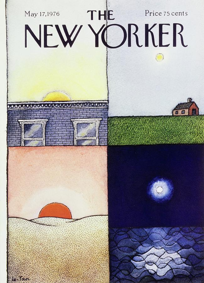New Yorker May 17th 1976 Painting by Pierre Le-Tan
