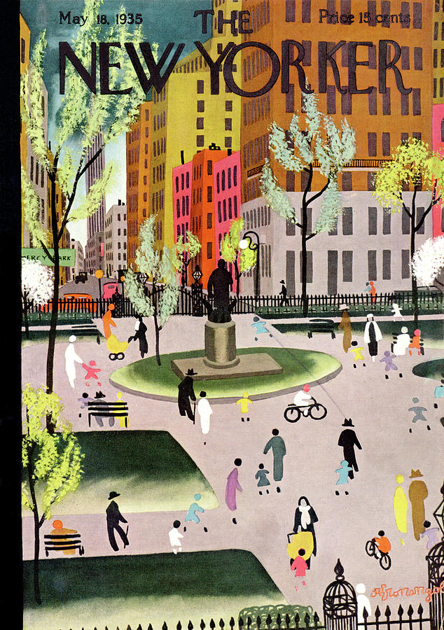 New Yorker May 18, 1935 Painting by Adolph K Kronengold