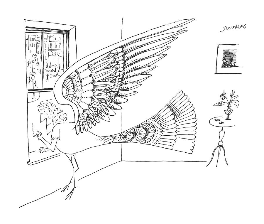New Yorker May 18th, 1963 Drawing by Saul Steinberg