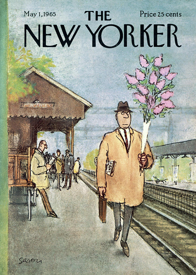 New Yorker May 1st, 1965 Painting by Charles Saxon