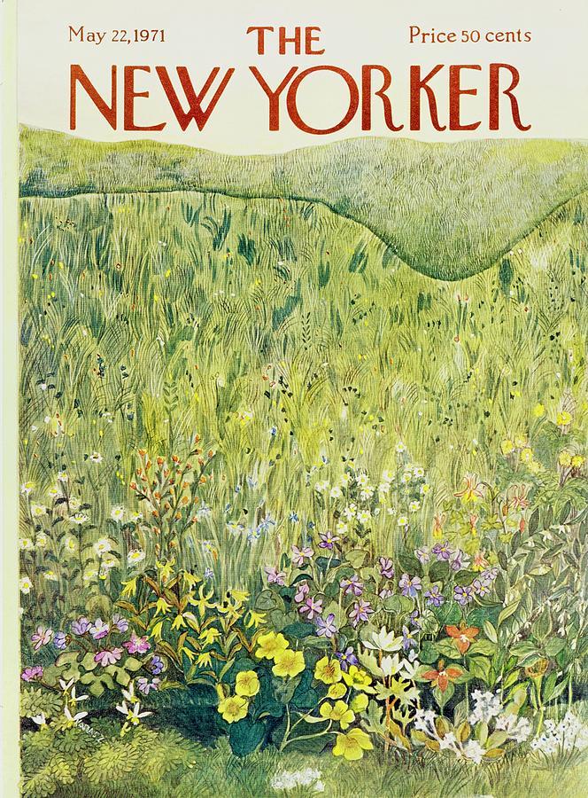 New Yorker May 22nd 1971 Painting by Ilonka Karasz