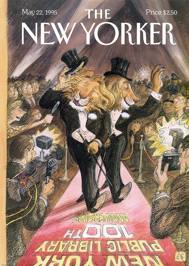 New Yorker May 22nd, 1995 Painting by Edward Sorel
