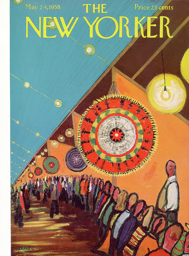 New Yorker May 24th, 1958 Painting by Robert Kraus