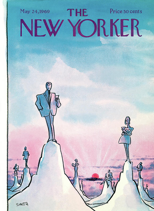 New Yorker May 24th, 1969 Painting by Charles Saxon