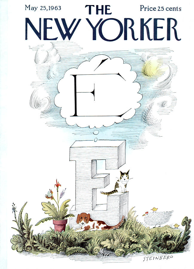 New Yorker May 25th, 1963 Painting by Saul Steinberg