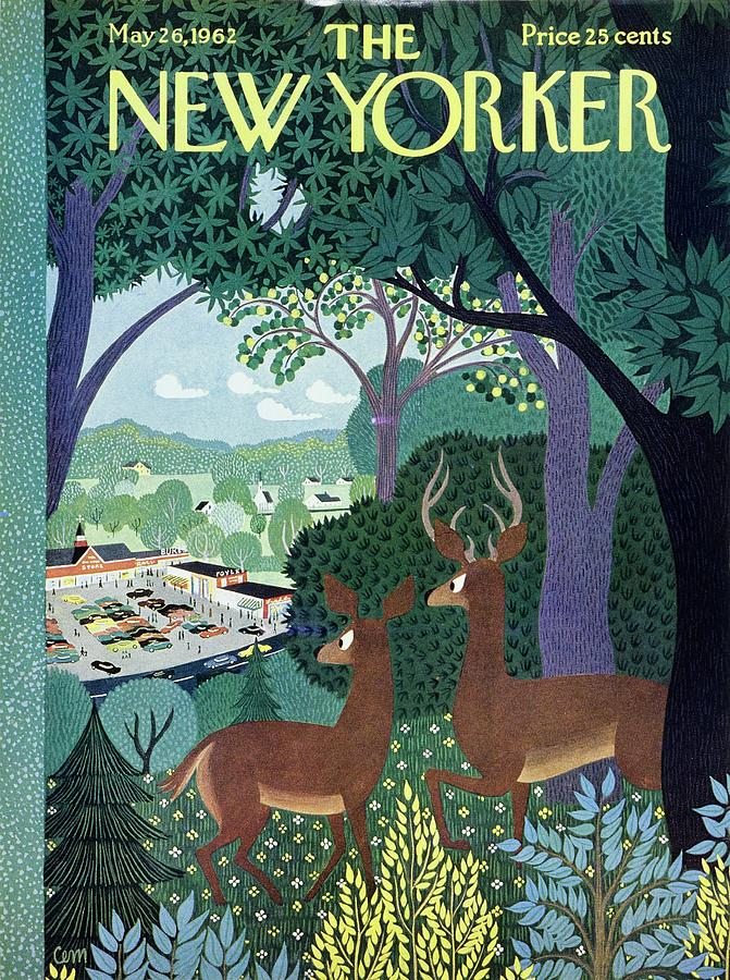 New Yorker May 26th 1962 Painting by Charles E Martin